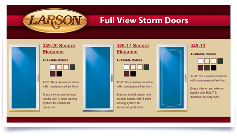 Larson Full View Storm Doors