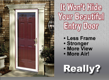 Large glass storm door
