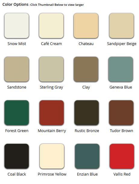 Storm Door Color Option