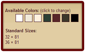 Larson Screen Away Color Options