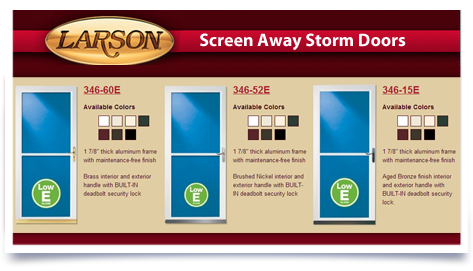 Larson Screen Aways Storm Doors