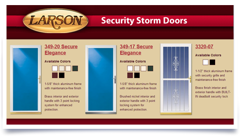 Larson Security Storm Doors