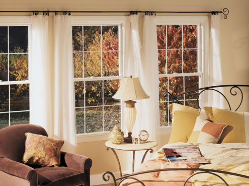 Thermo Industries Double Hung: Colonial Grid - Vinyl Replacement Window