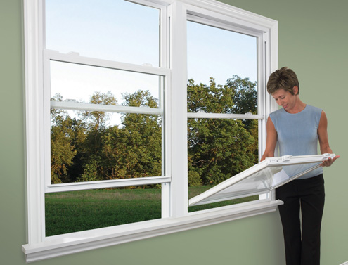 Clean pvc windows