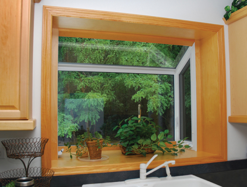Wood and Vinyl Garden Window