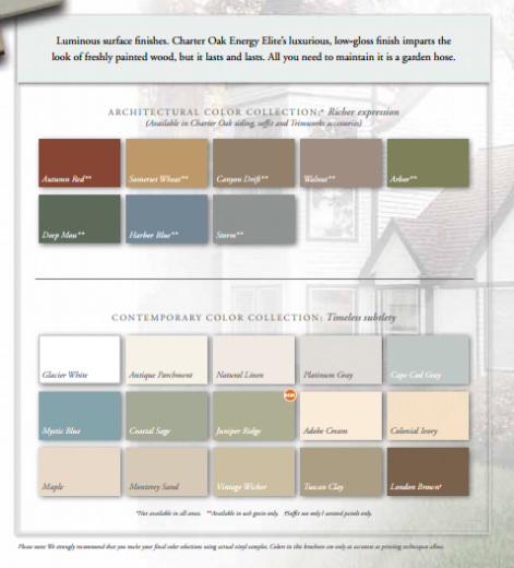 Charter Oak Colors Uhlmann Home Improvement