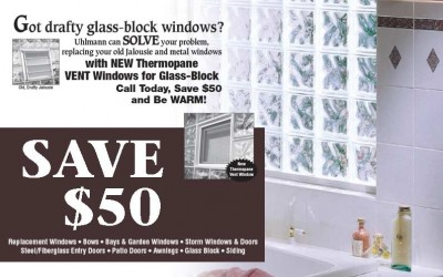 Thermopane Glass-Block Window Discount